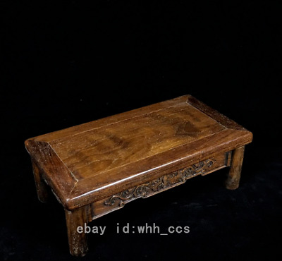 """13.6"""" China old antique Rosewood Enshrined table"""