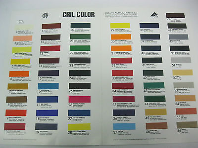 Artist Acrylic paint Ferrario CRIL-COLOR  Professional Quality 60ml Ch/Y/Colour