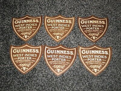 """RARE X50 NEW GUINNESS BEER MATS//COASTERS /"""" DUBLIN PORTER /""""  PLYWOOD"""