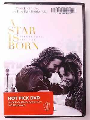 A Star Is Born, 2018, R-Rated, Drama Music Romance, DVD Movie, Like New