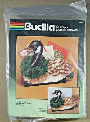 Canada Goose plastic canvas kit mail holder doorstop Bucilla 61046 new Christmas