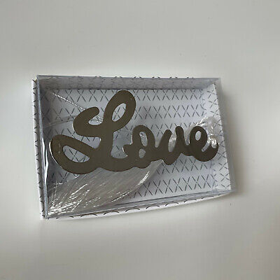 Silver Metal LOVE Bookmark in Giftbox