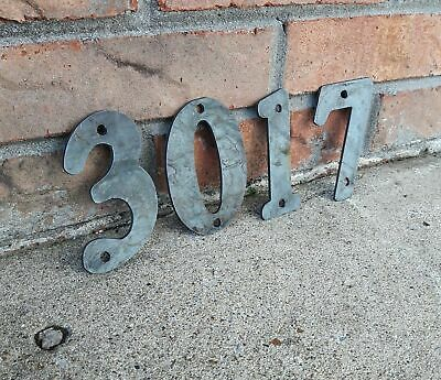 Raw Metal House Address Numbers