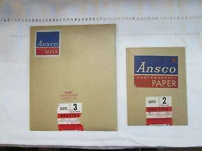 Vintage 1940s Ansco Photographic Paper - Glossy 5 x 7 and 8 x 10 NOS