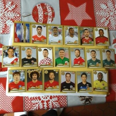 RARE Lot images Panini Coupe du Monde 2018 NEUVES GOLD EDITION