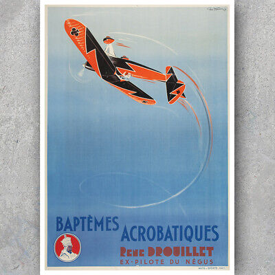 sells fluto CIRCUS vintage french CIRCUS POSTER acrobatics high wire 24X36