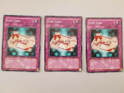 YuGiOh! Gift Card TAEV-EN078 / 1st Edition / Lot of 3
