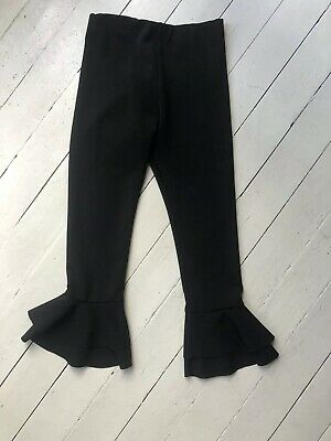 Girks Flared Trousers Black River Island Stretch 9-10 Yrs