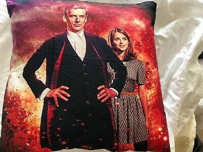 Doctor Who  12th Doctor and Clara Oswald Thin Polyester Cushion cover