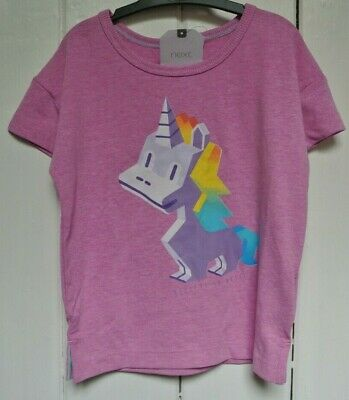 New Next little girls Unicorn  top Lilac age 12-18 months