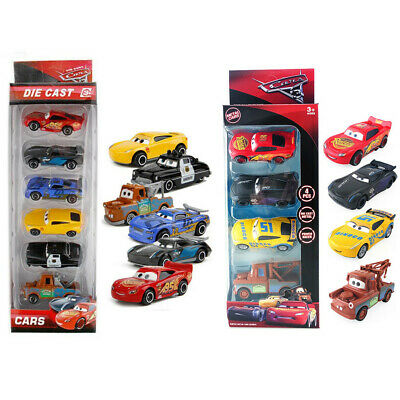 Disney Pixar Cars 3 Lightning McQueen Racer Diecast Car Collection Set Kid Toys