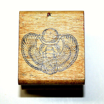 All Night Media Wood Rubber Stamp Scrapbooking PaperCrafts Egyptian Scarab Bug