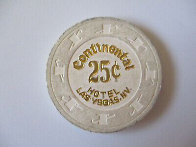 vintage Continental Hotel Casino Las Vegas Nevada 25 cents Poker Chip