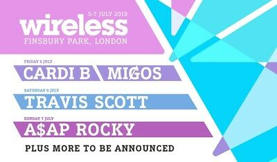 Wireless Festival 3 Day Weekend Ticket 2019 (Friday, Saturday & Sunday) O