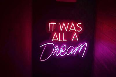 """New It Was All A Dream Beer Lamp Pub Acrylic Neon Light Sign 14"""""""