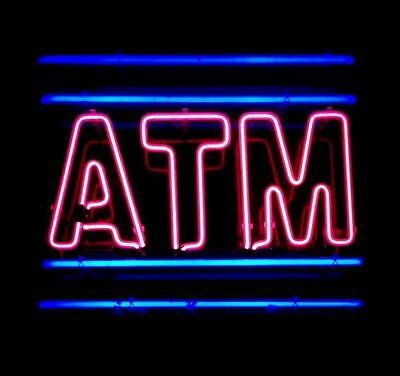 """New ATM Neon Light Sign Lamp Beer Pub Acrylic 14"""""""