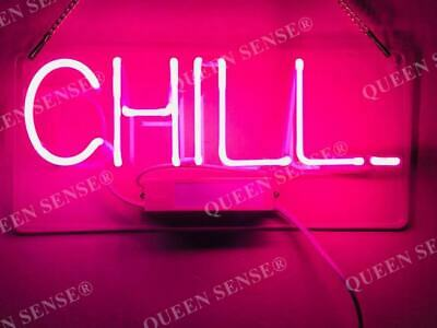 """New Chill Pink Neon Light Sign Lamp Beer Pub Acrylic 14"""""""