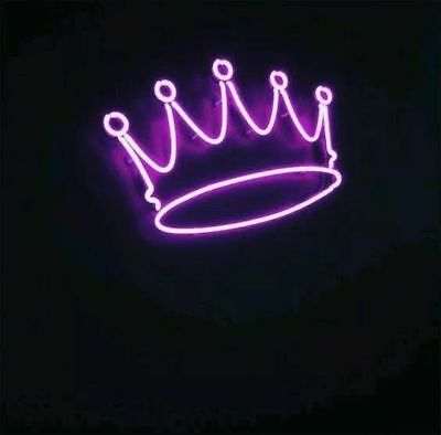 NEW CROWN PURPLE Neon Light Sign Lamp Beer Pub Acrylic 14