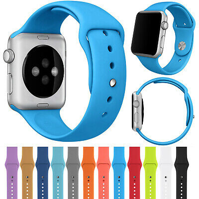 Sport Silicone Band Soft Strap For Apple Watch Series 4 3 2 38mm/42mm/40mm/44mm