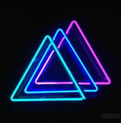 New Triangles Neon Light Sign Lamp Beer Pub Acrylic 14""