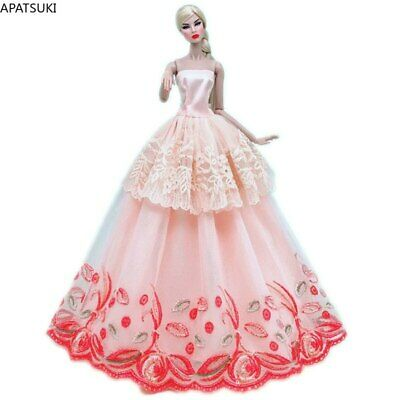 Green Lace Handmade Wedding Dress For 11.5in. Doll Clothes Outfits Evening Gown