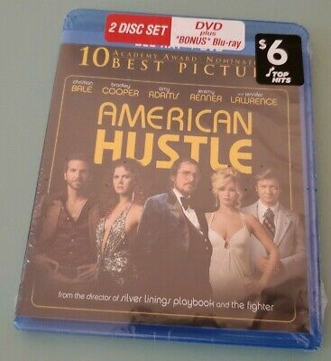 American Hustle DVD blu ray brand new free shipping 2 disk set NEW