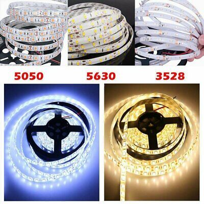50M 20M 10M 5M LED 3528 5050  SMD Strip Light Kit Flexible Dimmable Waterproof