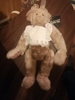 "1999 Ganz Cottage Collectible Christy Rave Anna 14""Plush Bear+Tag Display Mohair"