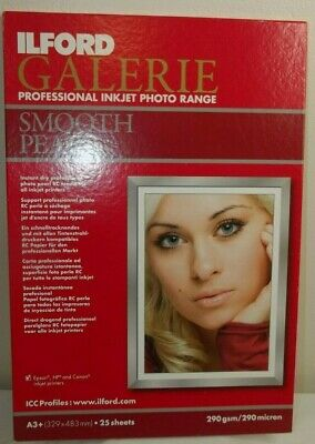 ILFORD GALERIE PROFESSIONAL INKJET PHOTO RANGE SMOOTH PEARL PAPER- A3+ 20 Sheets