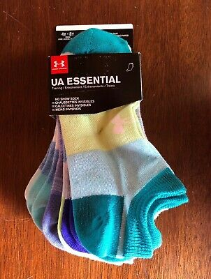 daa7e7310 NEW UNDER ARMOUR UA Ladies Womens or Youth No Show Ankle Socks 6 ...