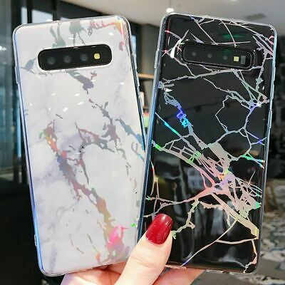 Samsung Galaxy S10 S9 S8 Plus Soft TPU Case Marble Shockproof Silicone Gel Cover