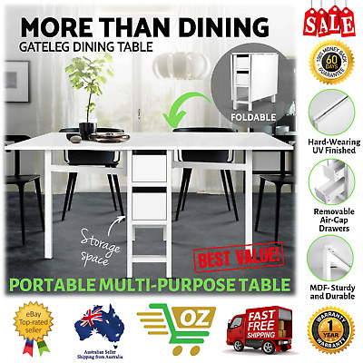 Portable Work Study Craft Sewing Table Office Desk Multi Purpose Dining Foldable