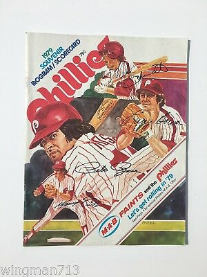 1979 PHILADELPHIA PHILLIES vs LOS ANGELES DODGERS MLB PROGRAM & SCORECARD
