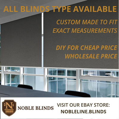 High Quality Roller blinds DIY (Premium Blockout) Custom Made to Fit size