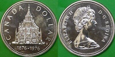 1976 Canada Silver Library of Parliament Dollar Graded as Specimen
