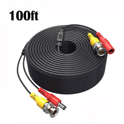 100ft BNC Video Power Cable Cord for Night Owl C-841-A10 1080P HD BNC systems