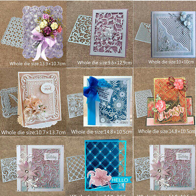 Lace Edge Frame Metal Cutting Dies Stencil Scrapbook Embossing Decor Album Craft