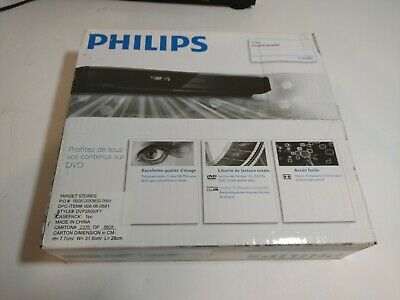 Philips DVD Player with Remote Black DVP2800 / F7 New in Box