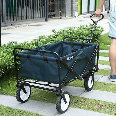 Garden Trolley Pull Heavy Duty Foldable Cart Brake Wheels Festival Camping 100KG