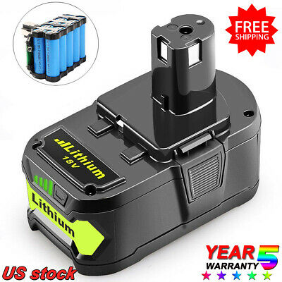 For Ryobi P108 ONE+ Lithium 18V High Capacity 4.0Ah Battery Pack P104 P109 P107