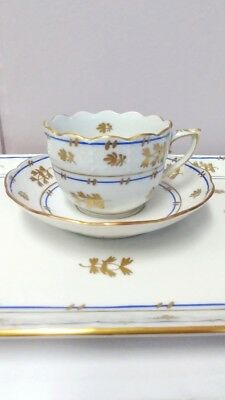 Herend Coronation Mocha coffee espresso cup with saucer