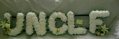 Uncle Artificial Silk Funeral Flower Any Five Letter Tribute Nanny Aunty Wreath