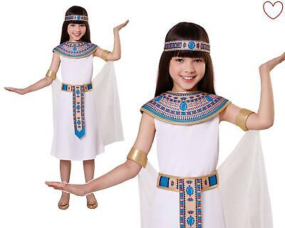 Girls Queen Egyptian Cleopatra Costume Kids Fancy Dress Book Week