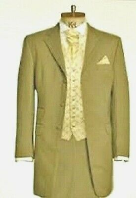 "Jeff Banks Men's Beige Prince Edward Jacket 38"" Regular Wedding Formal Coat"