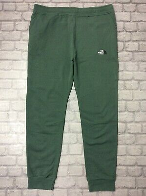 The North Face Uk Xxl Mens Bondi Green Fleece Lined Jogging Pant Casual Active