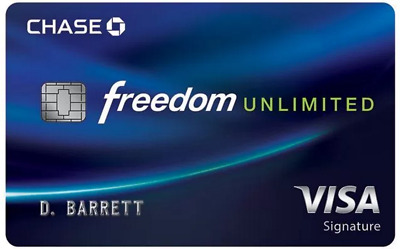 $80 cash + 3% Cash back Bonus for Chase Freedom Unlimited Credit Card Referral