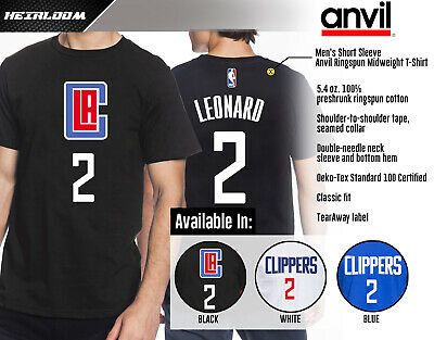Kawhi Leonard - Los Angeles Clippers #2 NBA Jersey Inspired Men's Graphic - T