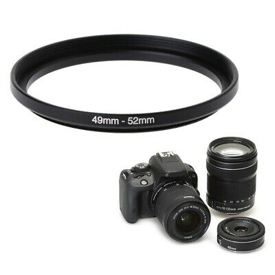 49mm To 52mm Metal Step Up Rings Lens Filter Adapter Camera Tool Accessories