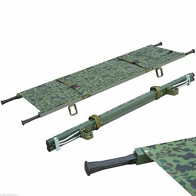Medical Stretcher Foldaway Aluminum | Camouflage | Emergency | 191-Mayday