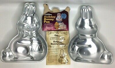WILTON 3D EASTER Egg Pan Set With Baking Rings and Box